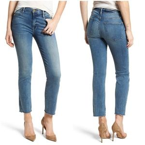 FRAME Le High Raw Hem Straight Jeans sz 24